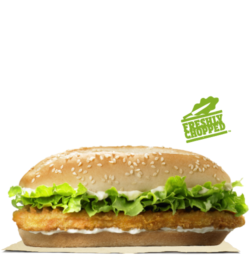 Chicken royale burger king for Jr fish and chicken menu