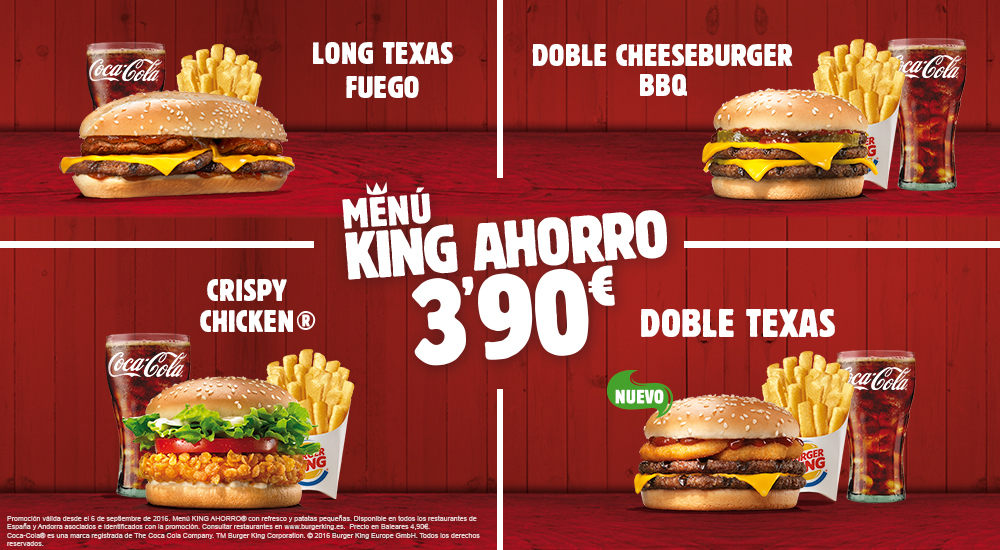 Menu ahorro Burger King